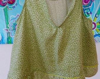 Green Leopard Crop Top!