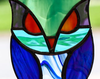 Stained Glass Owl 0304