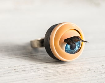 Blinking Dolls Eye Ring