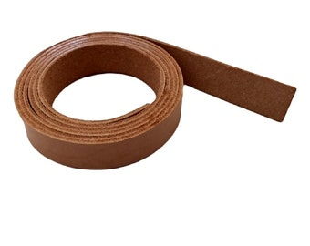 "Leather Strips 3/4"" - 19MM Width 
