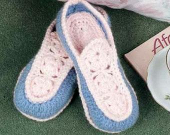Crochet Pattern slippers womens Size US 4.5 -12.5 PDF Instant Download