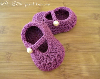 Mary Janes crochet pattern baby booties PDF Instant Download Nr.32