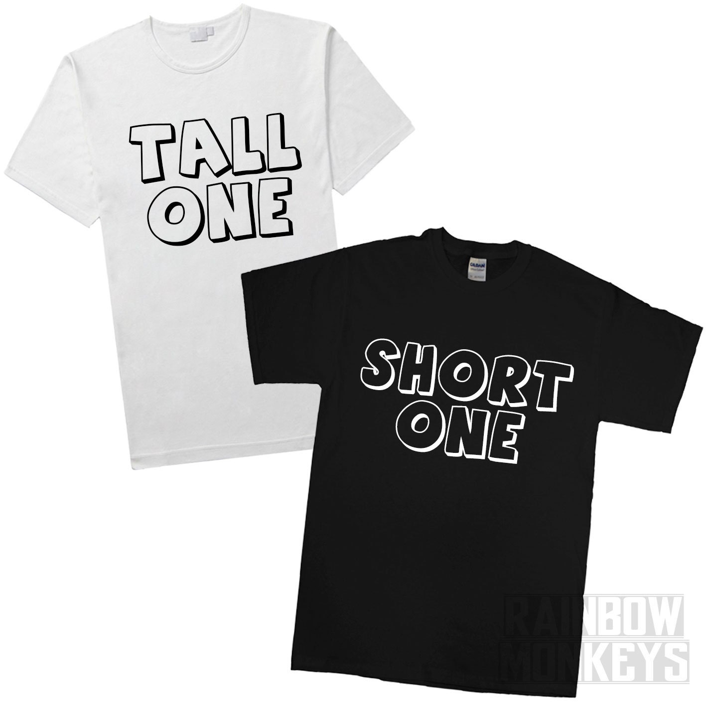 Quotes For Tall And Short Friends : Tall one and short best friends matching t shirts by