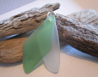 Two Large Piece Of Beach Glass to Make One Beautiful Piece!