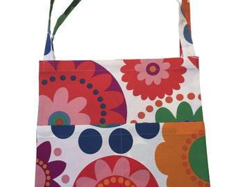 Handmade Bright Flowers Cotton Tote Bag