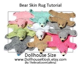 Crochet / Knitting Tutorial - Dollhouse Bear Skin Rug - PDF File Vol.14