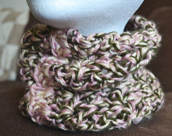 Multicolored Crochet Cowl