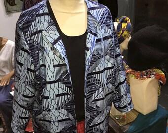 Blue jacket 3/4 in wax