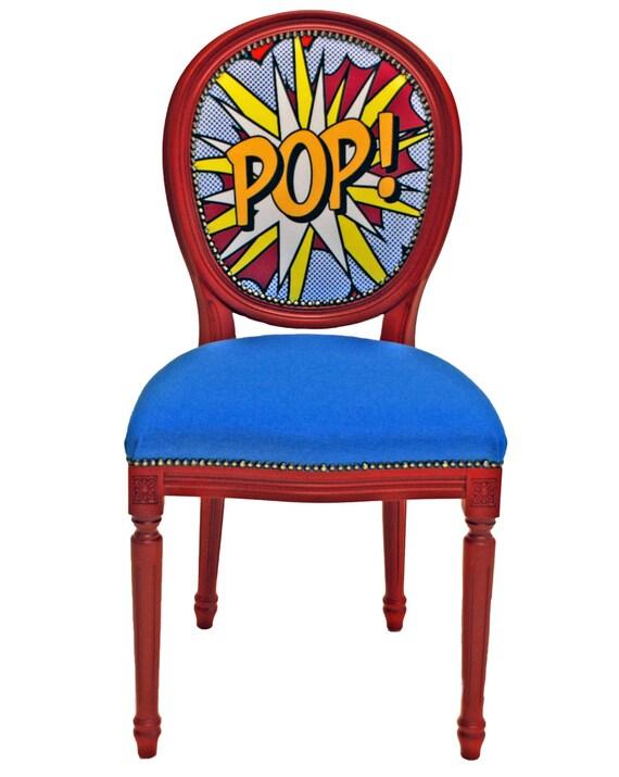 Pop roy lichtenstein inspired chair by leafinnovations on etsy for Pop furniture bewertung