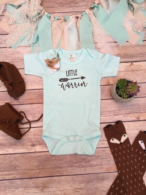 LITTLE WARRIOR Baby Bodysuit Baby Shower Gift Boho Baby