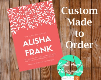 Custom Made Wedding Invitation Designs