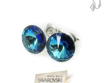 Blue Swarovski Elements ® Earrings