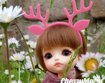 "Headband ""Deer"" for Lati Yellow, Lati White, Momoko, Pullip, Blythe, Dal, Yeolume, Byul, MSD, Kikipop, YoSD"
