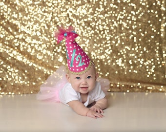 Customized 1/2 Birthday Party Hat