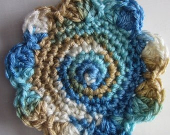 Set of 5 crocheted coasters