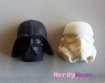 6 Small Star Wars Chocolates, Dark Side