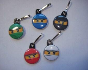 Ninjago Zipper Pulls Set of 10 - 2 of Each