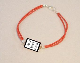 Personalized mini-book bracelet