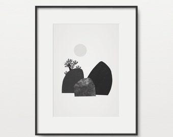 Minimal Landscape Mounds - Giclee Print