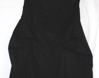 LBD / Pleated Strapless Classic / Size L