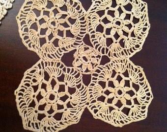 Vintage Doily in fine ecru cotton