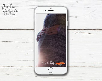 Baby Boy Gender Reveal Snapchat Filter, On Demand Geofilter, Snapchat Instant Download, It's a Boy Geofilter, Baby Geofilter, Snapchat Frame