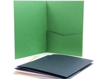 25 - A7 Posh Pocket Invitation - Metallic Finish - 5 x 7