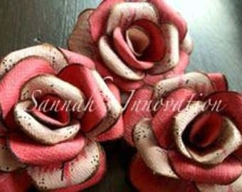 3 x shaded Rose Paper Flowers