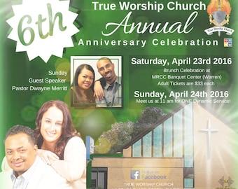 Church Celebration - Church Anniversary - Custom - Digital File