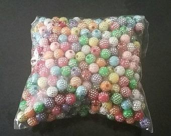 500 x mixed acrylic beads 5mm