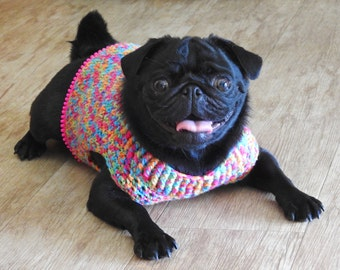 Frankie Handmade Crochet Dog Jumper, Pet Sweater, Dog Pyjamas