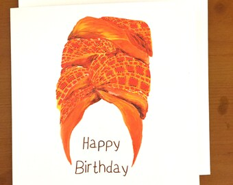Head wrap | birthday card, for her greeting card, for a queen