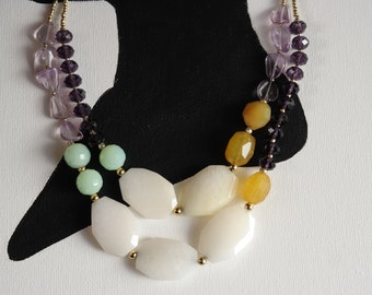 Anthro Inspired Colorful Statement Necklace