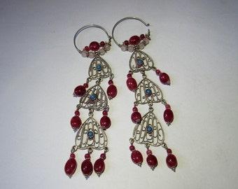 Elegant uzbek chandelier earrings