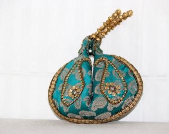 60% OFF Summer Super Sale Indian Handmade ethnic multicolor color ,Indian Pouch Bag/Potli bag measures 22mm -19mm
