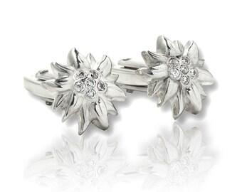 Sterling Silver Cufflinks Edelweiss