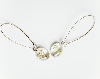 Baby's breath bronze dangle earrings (1 pair)