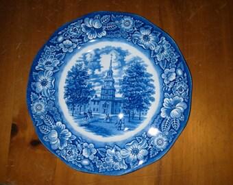 Liberty blue china replacement plate