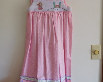 Hand Smocked Sundress--Size 10