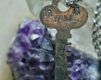11 11 Skeleton Key Necklace