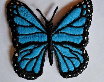 Butterfly: Embroidered Iron on Patch