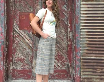 70's plaid Gouchos fits size 1-2