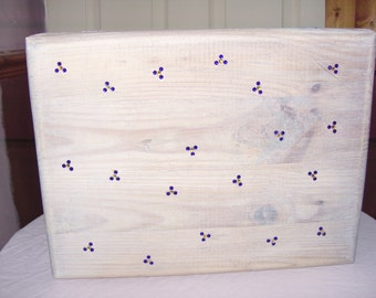 forget me not pine box - pine storage box