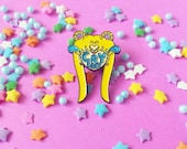 Pretty Guardian Cry Baby Sailor Moon Soft Enamel Glitter Pin
