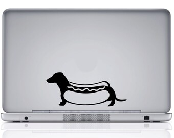 Dachshund Hot Dog Vinyl Decal
