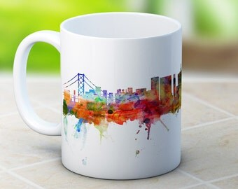 San Francisco Skyline California USA Cityscape - High Quality Coffee Tea Mug