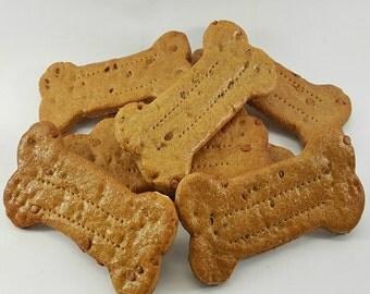 Double Peanut Butter Chip Bones (1/2 Dozen Large Dog Treats)