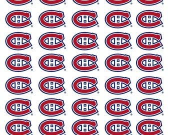 40 Montreal Canadians Hockey Stickers