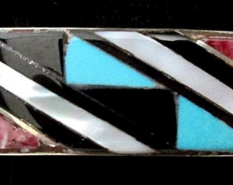 Zuni Silver and Turquoise Bracelet/Cuff STERLING Sleeping Beauty Turquoise*TB234
