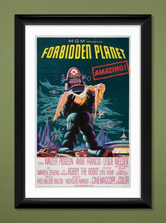 Movie Poster Forbidden Planet 1956 12x18 Heavyweight Art Forbidden Planet 1956 Poster